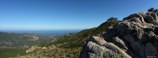 Vue sur ste Lucie et la baie de Pinarellu
